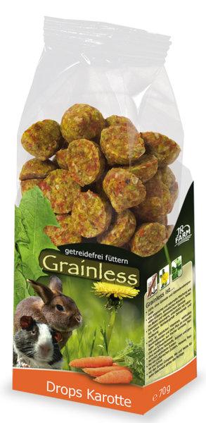 Беззърнена допълваща храна за гризачи моркови 140 гр.